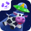 Discover Rhyming Words Letter Recognition And Sounds  Square Panda SpaceCow Game.